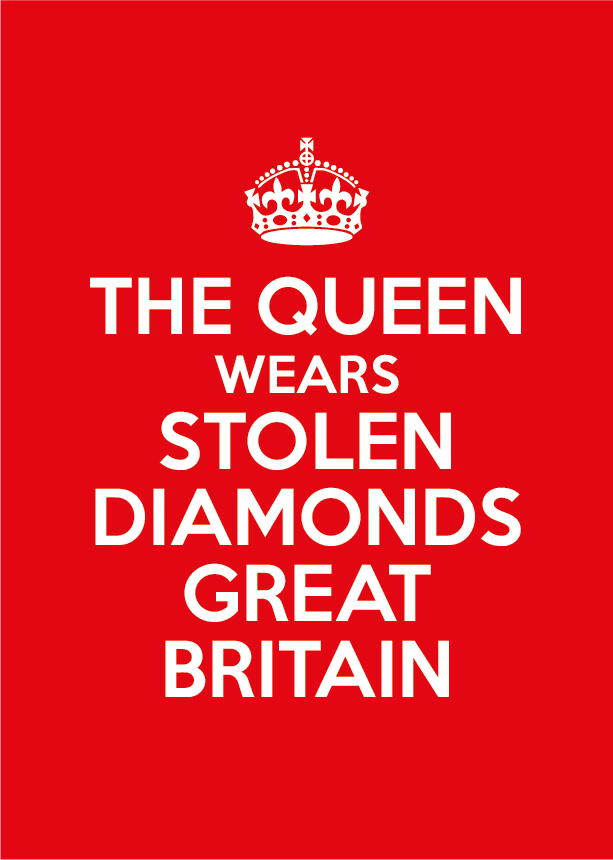 The Queen wears stolen diamonds Great Britain